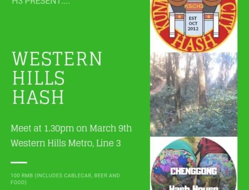 Western Hills Hash, a join event by the Kunming H3 & Chenggong H3